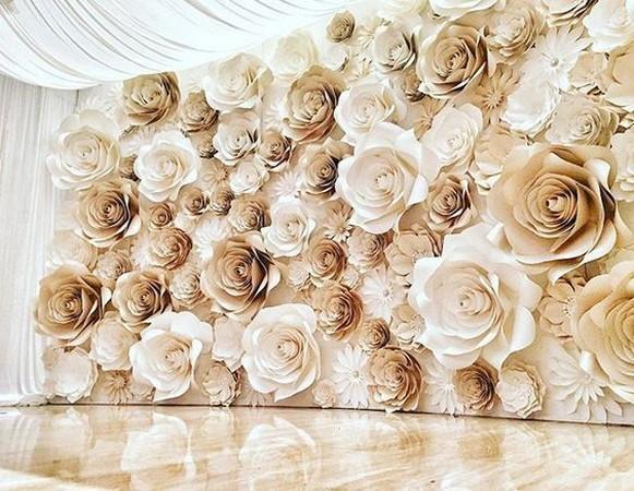 50 Stunning Paper Flower Decoration for Wedding Ideas 07
