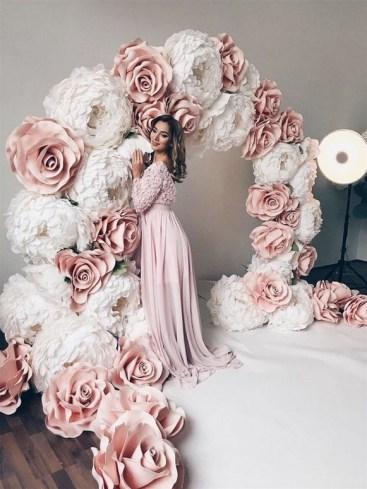 50 Stunning Paper Flower Decoration for Wedding Ideas 18