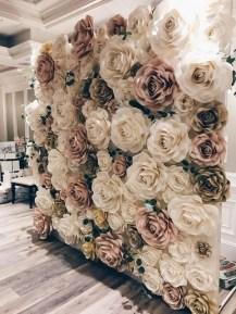 50 Stunning Paper Flower Decoration for Wedding Ideas 33