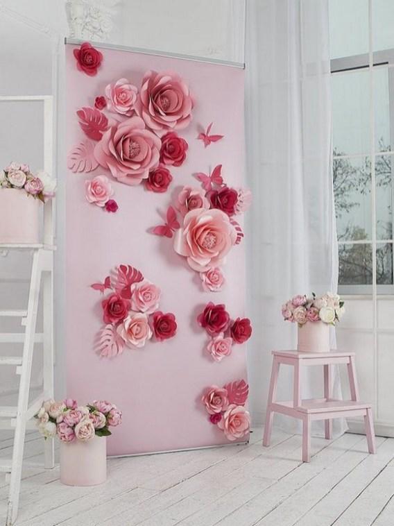 50 Stunning Paper Flower Decoration for Wedding Ideas 43