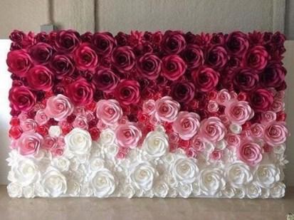 50 Stunning Paper Flower Decoration for Wedding Ideas 46