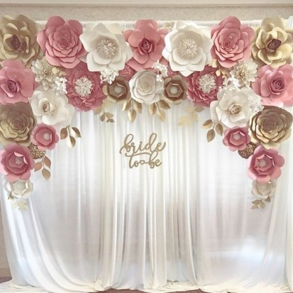 50 Stunning Paper Flower Decoration for Wedding Ideas 47