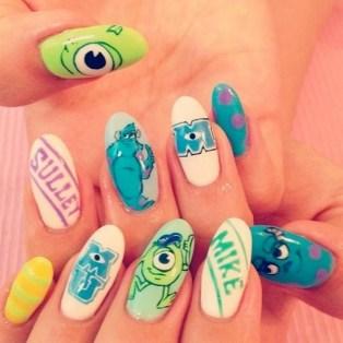 60 Disney Themed Nail Art Ideas 03