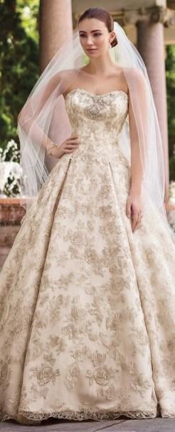 60 Gold Glam Wedding Dresses Inspiration 06