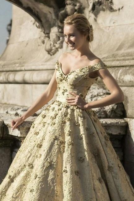 60 Gold Glam Wedding Dresses Inspiration 13