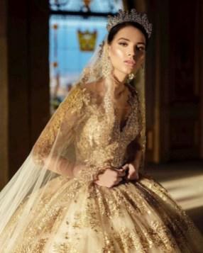 60 Gold Glam Wedding Dresses Inspiration 16
