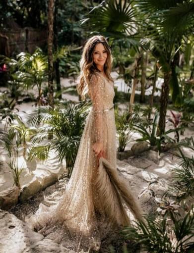 60 Gold Glam Wedding Dresses Inspiration 18