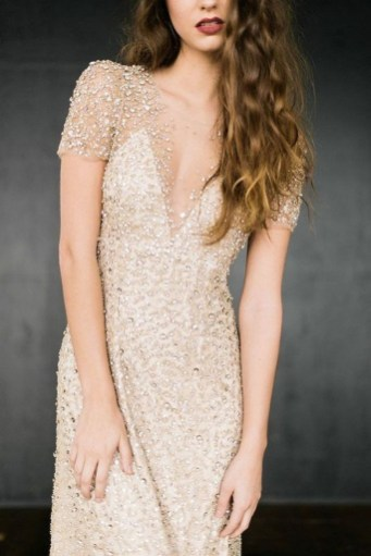 60 Gold Glam Wedding Dresses Inspiration 19