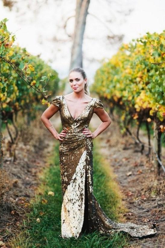 60 Gold Glam Wedding Dresses Inspiration 25