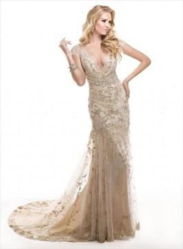 60 Gold Glam Wedding Dresses Inspiration 29