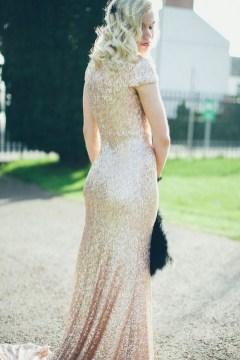 60 Gold Glam Wedding Dresses Inspiration 54