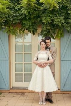 60 Simple Vintage Wedding Dress Ideas 04
