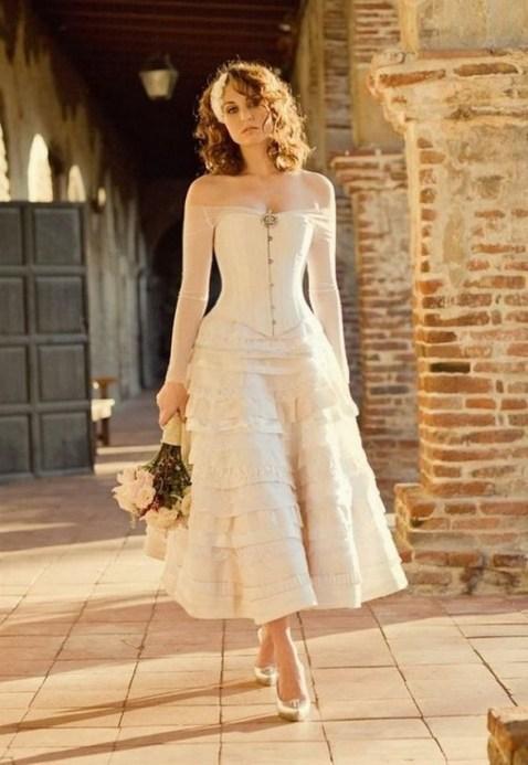 60 Simple Vintage Wedding Dress Ideas 12