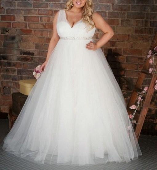 70 Elegant Ball Gown Wedding Dresses For Plus Size 13