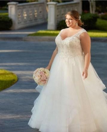 70 Elegant Ball Gown Wedding Dresses For Plus Size 19