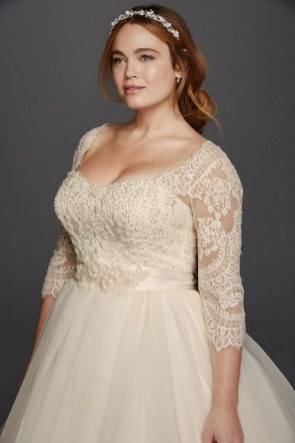 70 Elegant Ball Gown Wedding Dresses For Plus Size 20