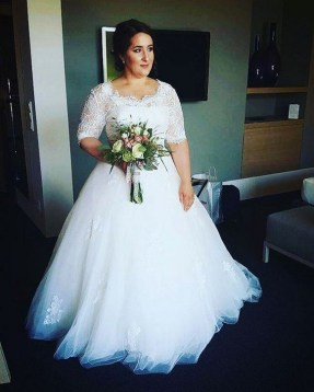 70 Elegant Ball Gown Wedding Dresses For Plus Size 23