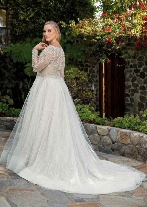 70 Elegant Ball Gown Wedding Dresses For Plus Size 25