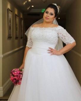 70 Elegant Ball Gown Wedding Dresses For Plus Size 47