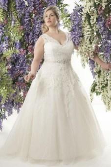 70 Elegant Ball Gown Wedding Dresses For Plus Size 49