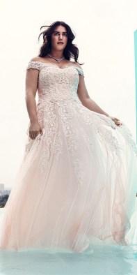 70 Elegant Ball Gown Wedding Dresses For Plus Size 54