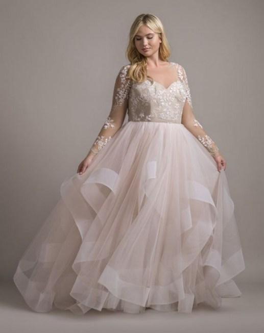 70 Elegant Ball Gown Wedding Dresses For Plus Size 58