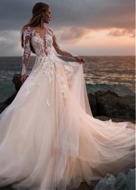 70 Long Sleeve Lace Wedding Dresses Ideas 23