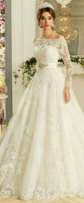 70 Long Sleeve Lace Wedding Dresses Ideas 62