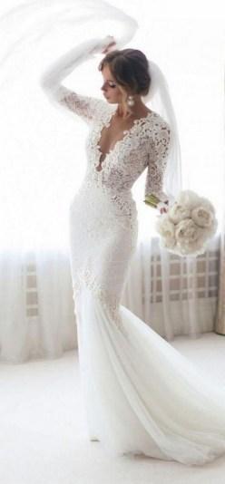 70 Long Sleeve Lace Wedding Dresses Ideas 69