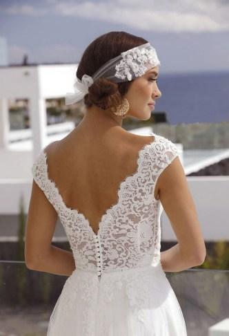 80 Adorable V Shape Back Wedding Dresses You Need to See 19