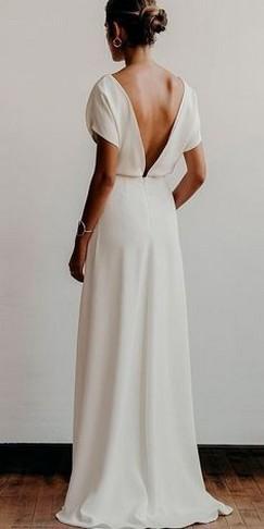 80 Adorable V Shape Back Wedding Dresses You Need to See 25