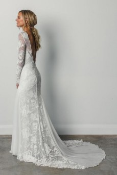 80 Adorable V Shape Back Wedding Dresses You Need to See 40