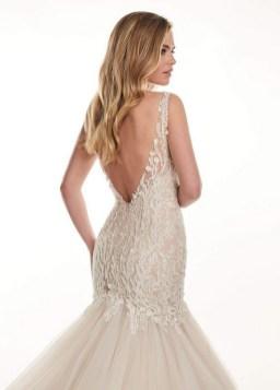 80 Adorable V Shape Back Wedding Dresses You Need to See 52