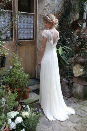 80 Adorable V Shape Back Wedding Dresses You Need to See 64
