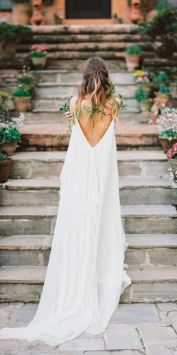 80 Adorable V Shape Back Wedding Dresses You Need to See 83