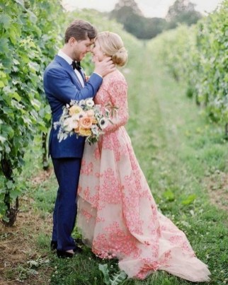 80 Colorful Wedding Dresses Ideas 17