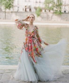 80 Colorful Wedding Dresses Ideas 35