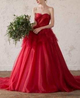 80 Colorful Wedding Dresses Ideas 36