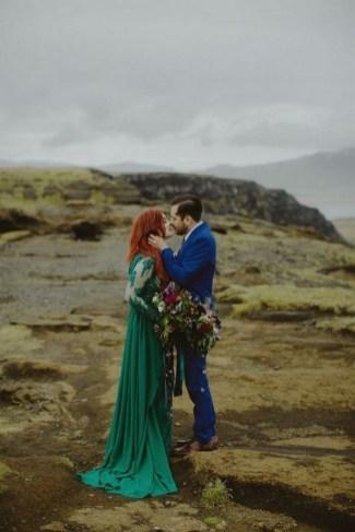 80 Colorful Wedding Dresses Ideas 40