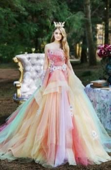 80 Colorful Wedding Dresses Ideas 45