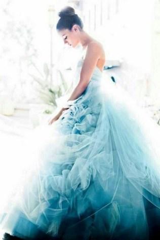 80 Colorful Wedding Dresses Ideas 63