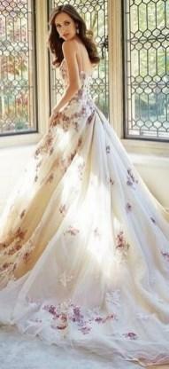 80 Colorful Wedding Dresses Ideas 65
