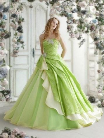 80 Colorful Wedding Dresses Ideas 73