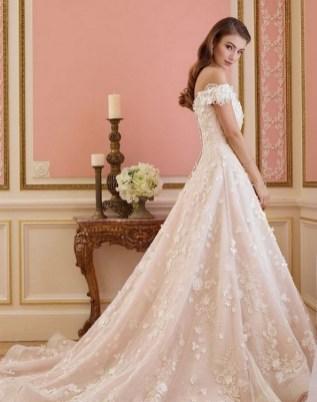 80 Inspiring Beautiful Sequin Bridal Gown 21