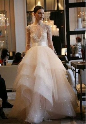 80 Inspiring Beautiful Sequin Bridal Gown 24