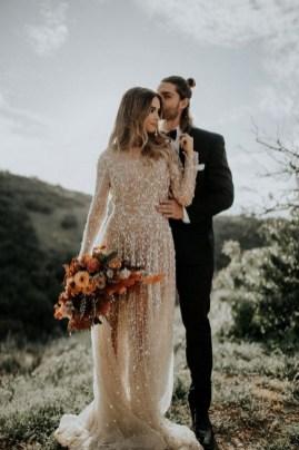 80 Inspiring Beautiful Sequin Bridal Gown 37