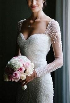 80 Inspiring Beautiful Sequin Bridal Gown 55