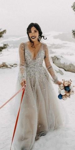 80 Inspiring Beautiful Sequin Bridal Gown 59