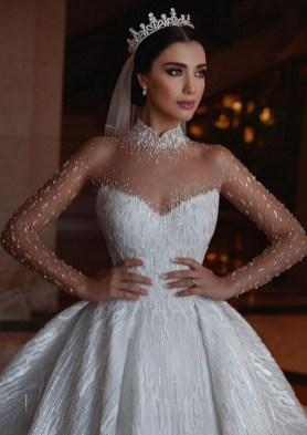 80 Inspiring Beautiful Sequin Bridal Gown 9