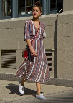 80 Stylish and Comfy Dress and Sneakers Outfit Look 62
